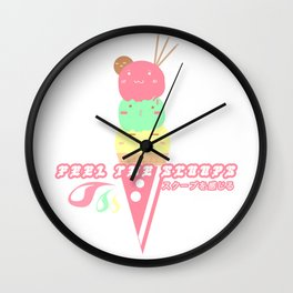 feel the scoops Wall Clock
