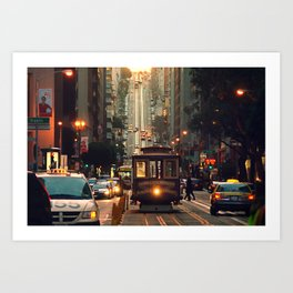 Cable car - San Francisco, CA Art Print