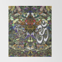 Om Shanti by Kenny Rego Throw Blanket