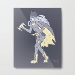 Navy BatGirl Metal Print