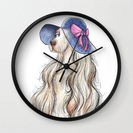Lady Dog Wall Clock