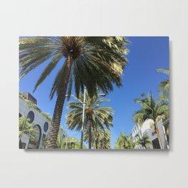 Cali Palm's Metal Print