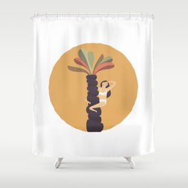 Stare at the sun Shower Curtain