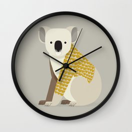 Whimsical Koala Wall Clock