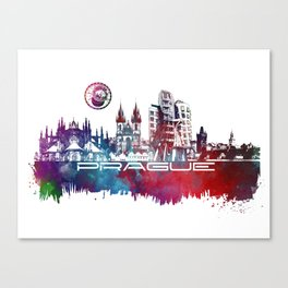 Prague skyline city Canvas Print