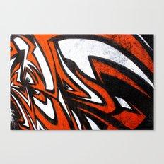 White n' Red Canvas Print