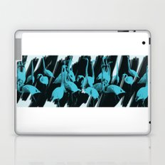 Blue Flamingos Laptop & iPad Skin