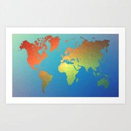 Poly Map Art Print
