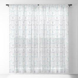 Anchors and Waves Sheer Curtain