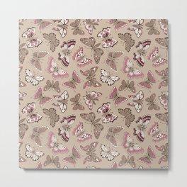 Butterflies pattern Metal Print