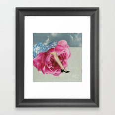 The Lady who Lived in Roses Framed Art Print