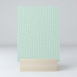 Willow Stripes - Sea Foam Green Mini Art Print