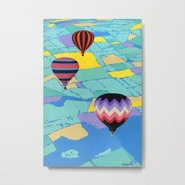 Abstract Hot Air Balloons, Ballooning, Balloon Pop Art Retro landscape Metal Print