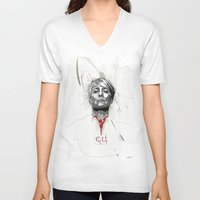 frank underwood V-neck T-shirts featuring House of Cards - Claire Underwood by teokon