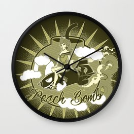 Peach Bomb Wall Clock