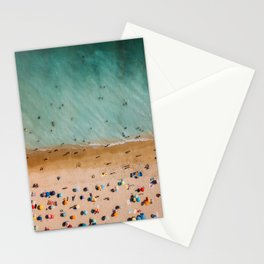 People On Algarve Beach In Portugal, Drone Photography, Aerial Photo, Ocean Wall Art Print Stationery Cards
