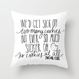 Cookies - Lewis Quotation Throw Pillow