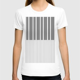 The Piano Black and White Keyboard T-shirt