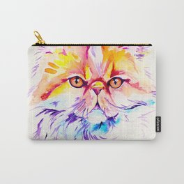Persian Cat Watercolor Painting Carry-All Pouch