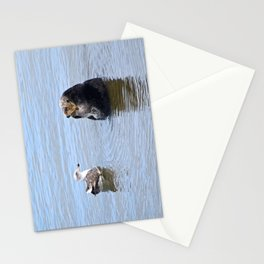 otter and gull Stationery Cards