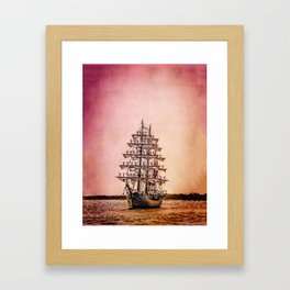 Tall ship Gloria Framed Art Print