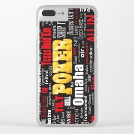 Poker Slang Word Cloud Clear iPhone Case