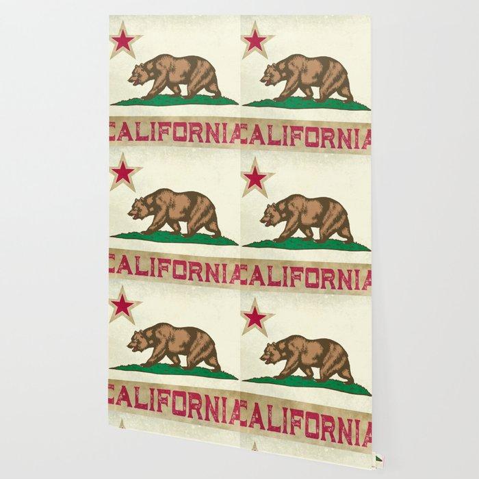 Vintage California Flag Wallpaper