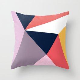 Modern Poetic Geometry Throw Pillow