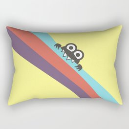 Funny Bug Bites Candy Colored Stripes Rectangular Pillow