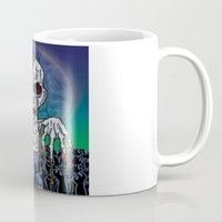 kevin russ Mugs featuring Full Moon Kevin by Visible Riddles