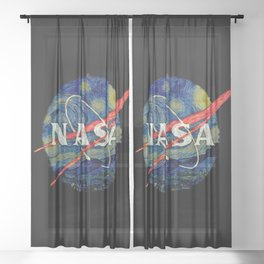 Nasa Starry Night Sheer Curtain