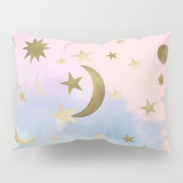 Pastel Starry Sky Moon Dream #1 #decor #art #society6 Pillow Sham