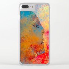Drifting Into The Colors Clear iPhone Case