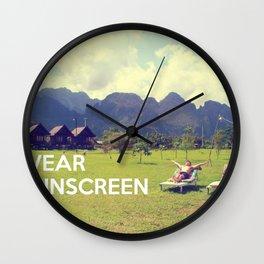Wear Sunscreen Wall Clock
