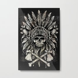Native Headdress Metal Print