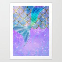 Mermaid Iridescent Shimmer Art Print
