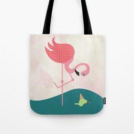 Flamingo had ice cream Tote Bag