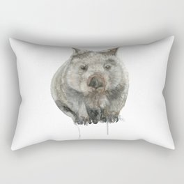 Wombat watercolour Rectangular Pillow