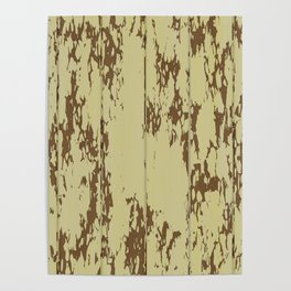 Weathered Wood Paneling 01 Poster