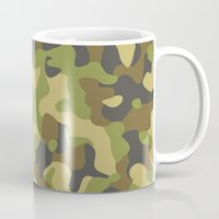 military Mugs featuring Military Pattern by Crazy Thoom