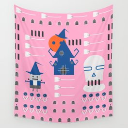 Fantastic Halloween in pink Wall Tapestry