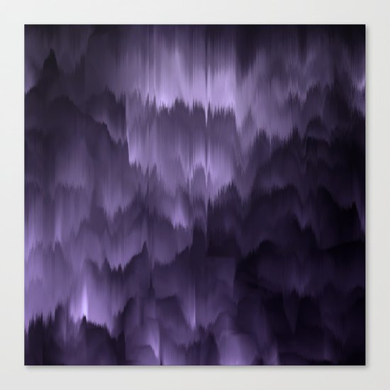 Purple and black. Abstract. Canvas Print