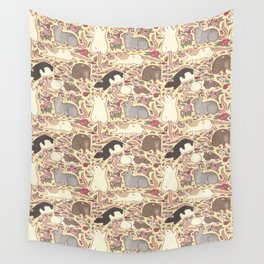 Rats & Peonies Wall Tapestry
