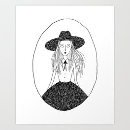 School Witch Art Print