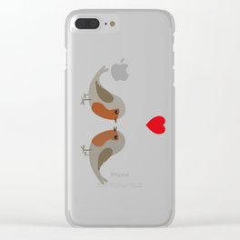 Two cute robins Clear iPhone Case