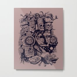 Mictecacihuatl Metal Print