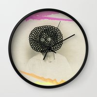 led zeppelin Wall Clocks featuring Led Contrast by Naomi Vona