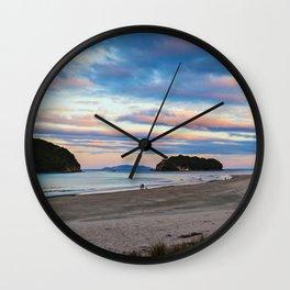 September Sunset Wall Clock