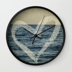 Blue Love Wall Clock