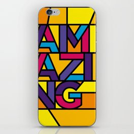 Amazing - Stained Glass iPhone Skin